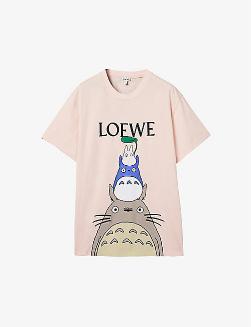 LOEWE: Loewe x My Neighbor Totoro stretch cotton-blend T-shirt