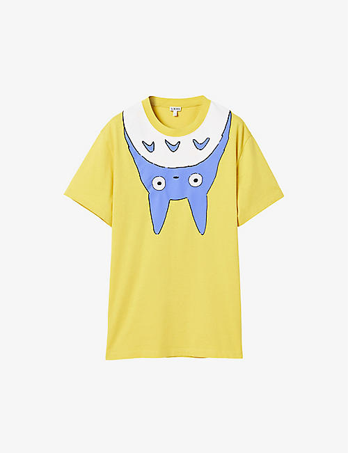 LOEWE: Loewe x My Neighbor Totoro printed cotton-blend T-shirt