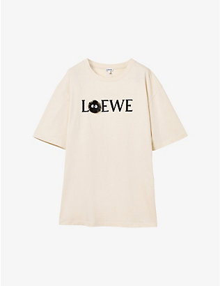 LOEWE: Loewe x My Neighbor Totoro Dust Bunnies stretch cotton-blend T-shirt
