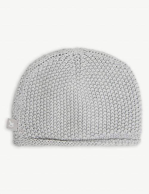 THE LITTLE TAILOR: Rolled-hem cotton-knit hat 0-6 months