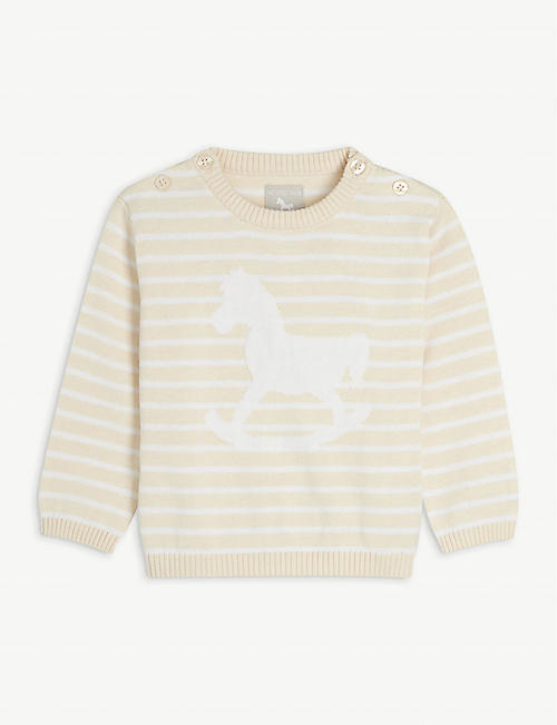 THE LITTLE TAILOR: Rocking horse cotton jumper 0-12 months