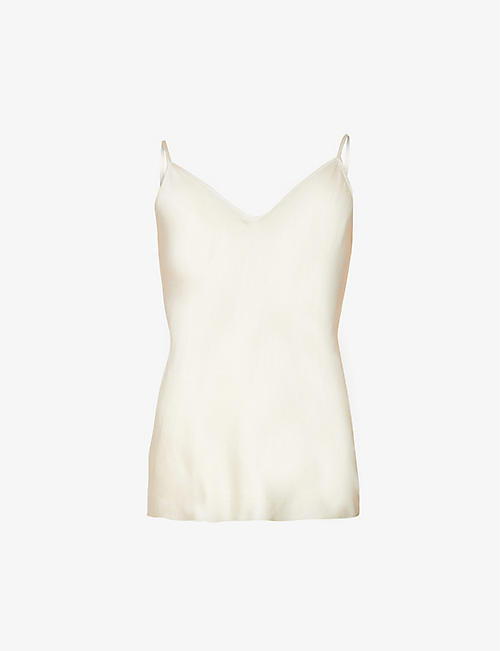 MAX MARA: Lucca V-neck stretch-silk camisole