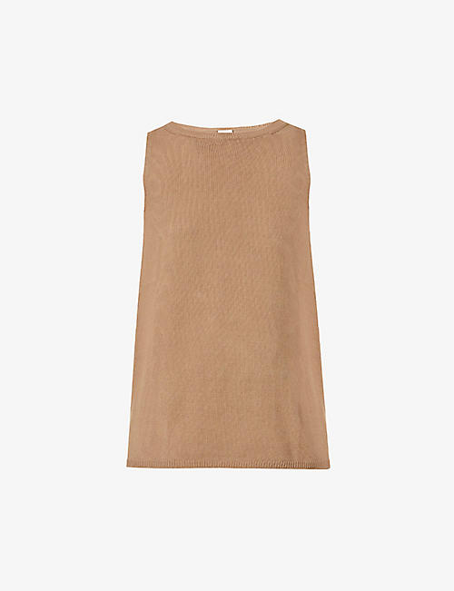 MAX MARA: Nastie round-neck knitted tank top