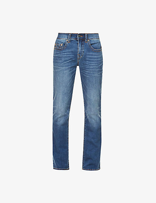 TRUE RELIGION: Ricky relaxed-fit straight jeans