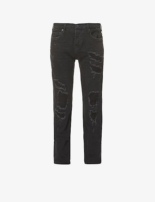 TRUE RELIGION: Rocco skinny slim-fit stretch-denim jeans