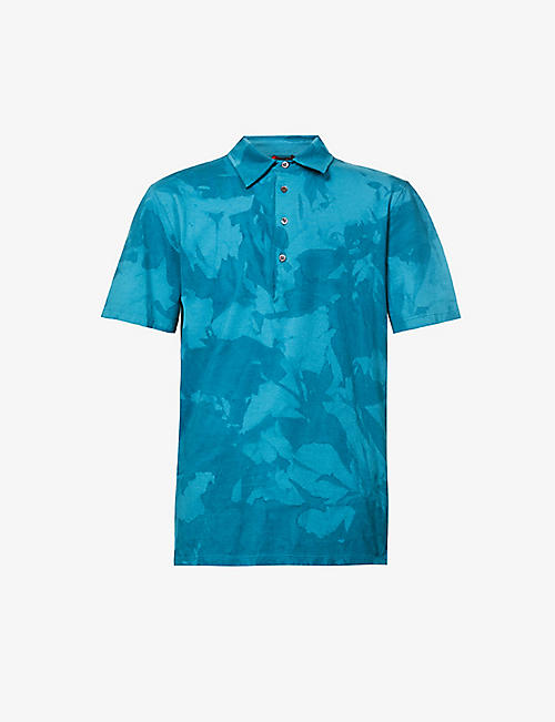 BARENA VENEZIA: Floral-pattern regular-fit cotton-jersey polo shirt