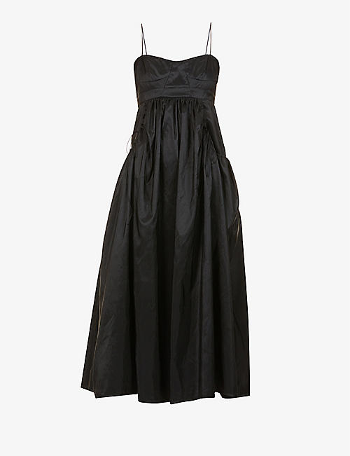 CECILIE BAHNSEN: Cameron gathered shell midi dress