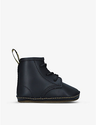 DR MARTENS: Auburn leather ankle boots 3-12 months