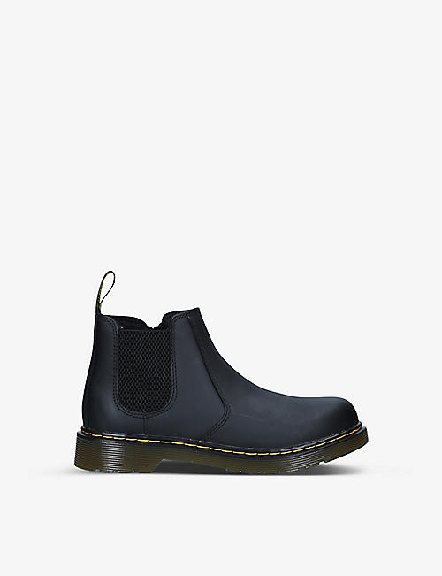 DR MARTENS: 2976 platform leather Chelsea boots 9-10 years