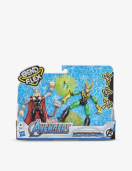 MARVEL AVENGERS: Avengers Bend and Flex Thor versus Loki action figures