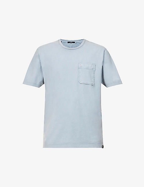 7 FOR ALL MANKIND: Faded crewneck cotton-jersey T-shirt