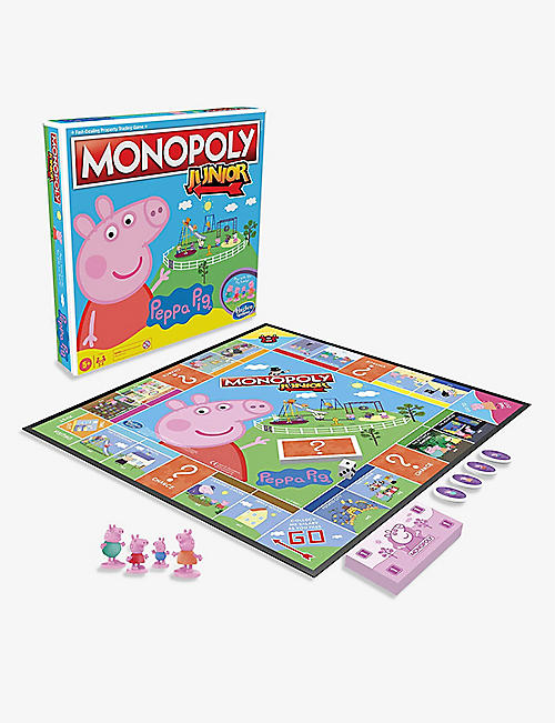 BOARD GAMES: Monopoly Junior Peppa Pig Edition board game