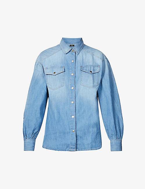 PINKO: Slim-fit cotton-denim shirt