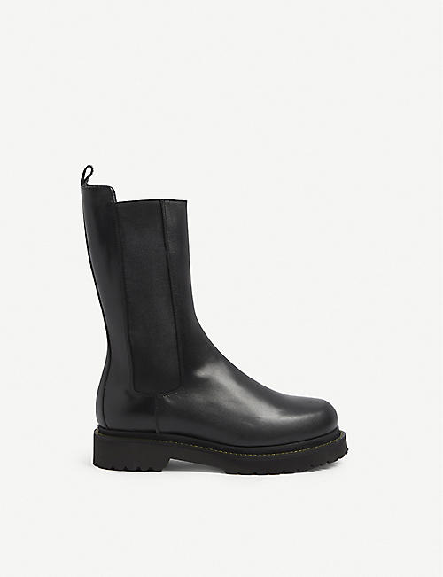 PINKO: Natalie elasticated-panel leather boots