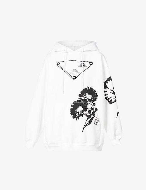 PRADA: Peter de Potter-print oversized cotton-jersey hoody