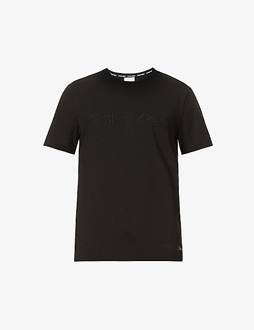 CALVIN KLEIN: Eco Series cotton and recycled polyester-blend lounge T-shirt