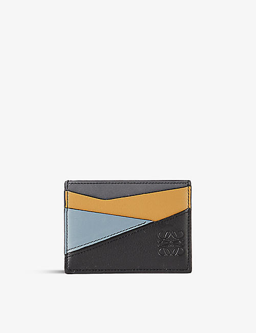LOEWE: Puzzle leather card holder