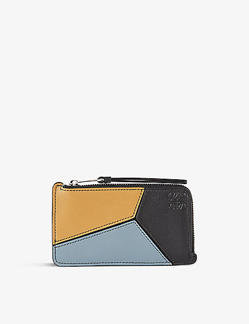 LOEWE: Puzzle leather-blend coin card holder