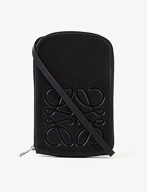 LOEWE: Logo-embossed zipped leather case