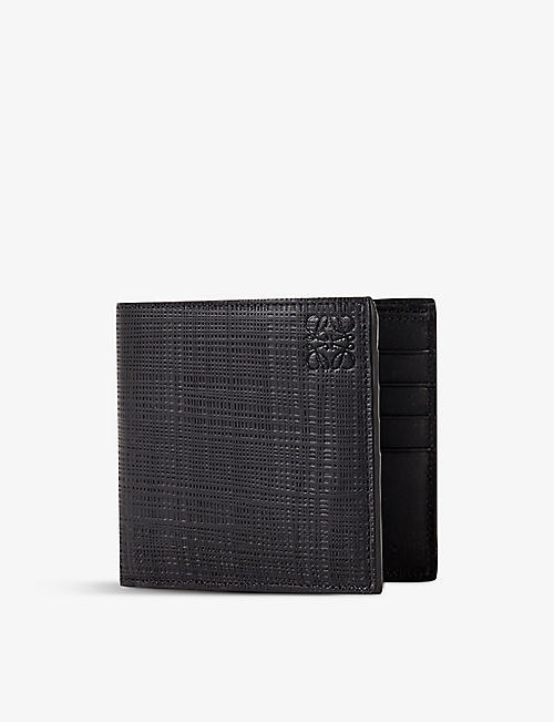 LOEWE: Textured leather-blend billfold wallet