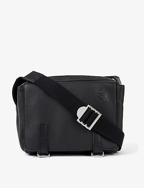 LOEWE: XS Military grained-leather messenger bag
