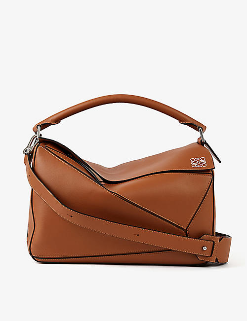 LOEWE: Puzzle large leather shoulder bag