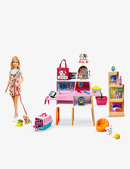 BARBIE: Barbie doll and pet boutique playset
