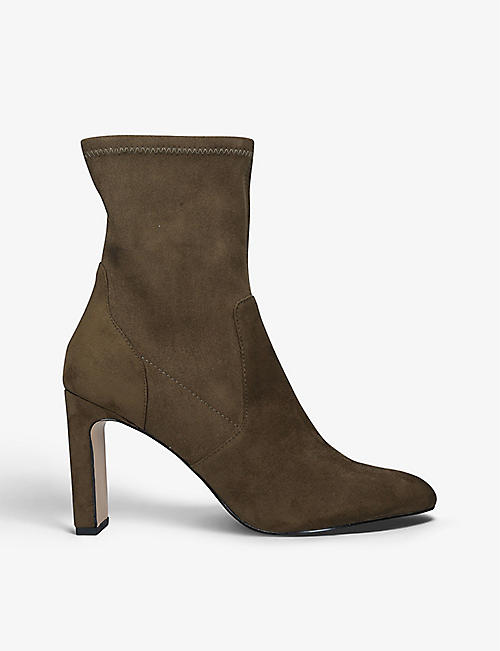 KG KURT GEIGER: Thara high-heeled sock ankle boots
