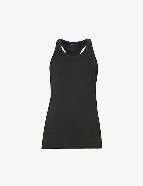 SPANX ACTIVE: Look At Me Now racerback woven top