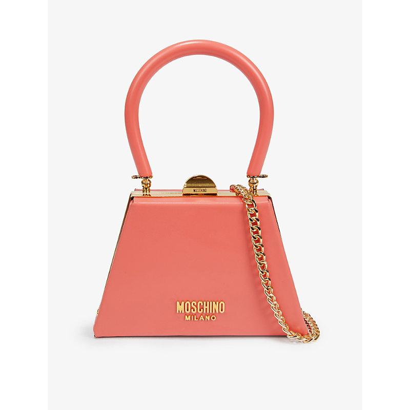 Moschino Handbags TRAPEZIUM LEATHER MINI TOTE BAG