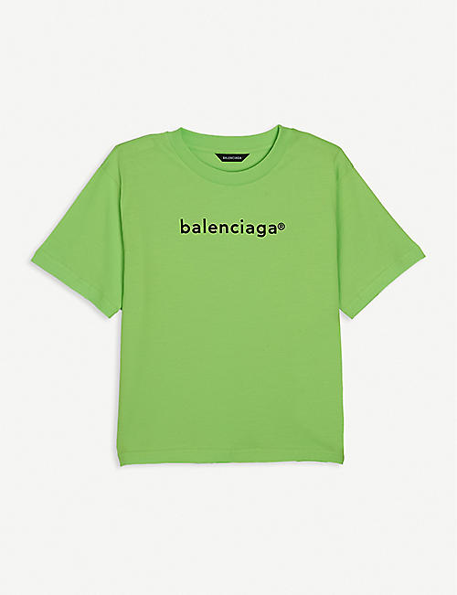BALENCIAGA: Logo-print cotton-jersey T-shirt 4-10 years