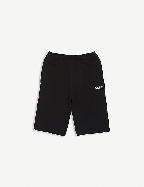 BALENCIAGA: Political logo-print cotton shorts 4-10 years