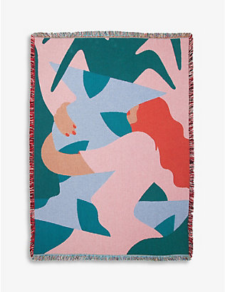 SLOW DOWN STUDIO: Rodriguez graphic-print recycled-cotton throw