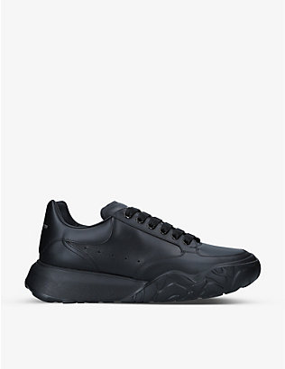 ALEXANDER MCQUEEN: Exaggerated-sole leather trainers