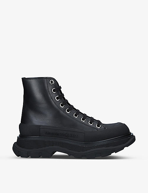 ALEXANDER MCQUEEN: Tread Slick high-top leather boots