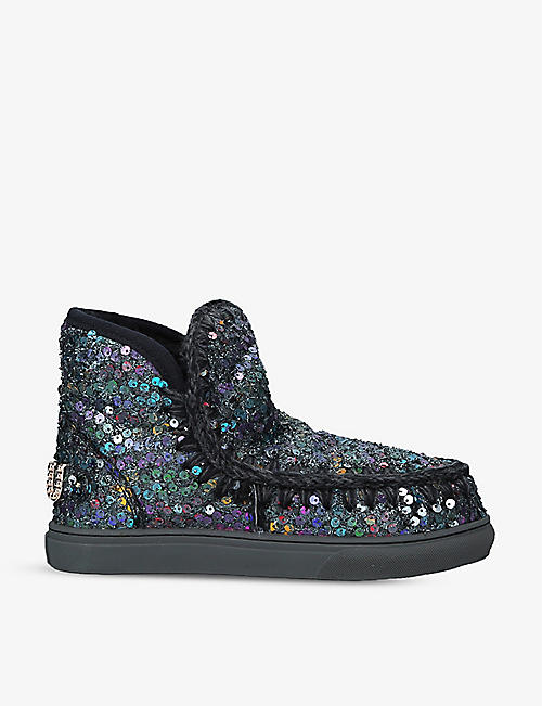 MOU: Eskimo sequin-embossed sheepskin trainers