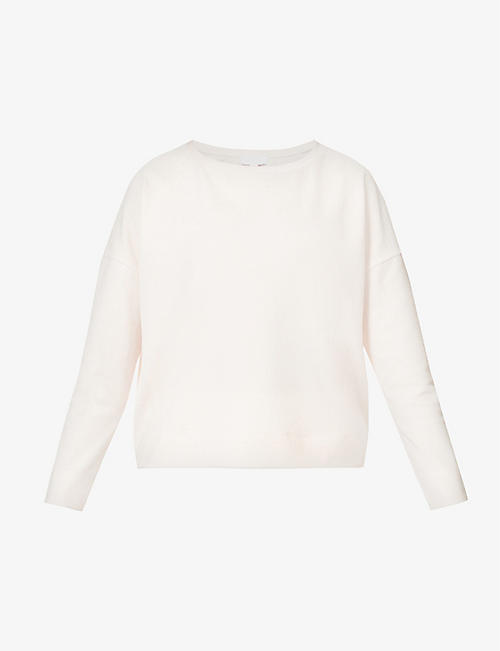 THE WHITE COMPANY: Relaxed fit stretch-organic cotton and recycled-polyester sweatshirt