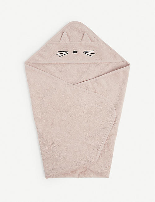 LIEWOOD: Hooded cat cotton towel