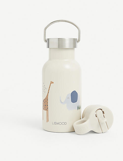 LIEWOOD: Anker safari-print stainless steel water bottle 350ml