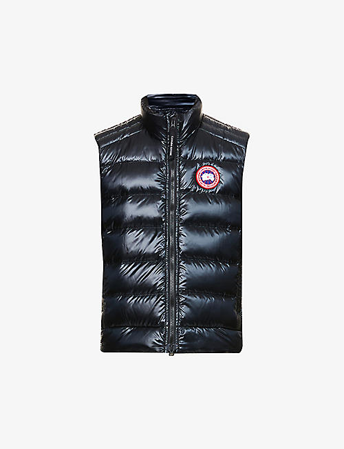 CANADA GOOSE: Crofton funnel-neck recycled nylon-down gilet