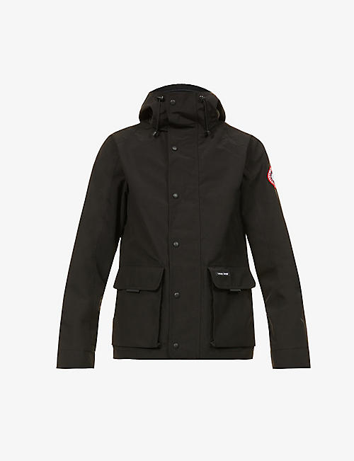 CANADA GOOSE: Lockeport funnel-neck woven hooded jacket