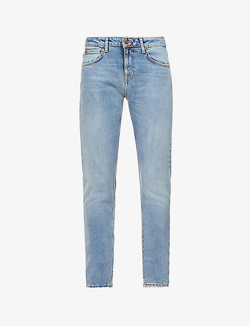 NUDIE JEANS: Skinny Lin slim-fit skinny organic cotton-blend jeans
