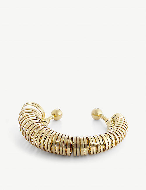 JACQUEMUS: Baguier multi-ring gold-toned bracelet