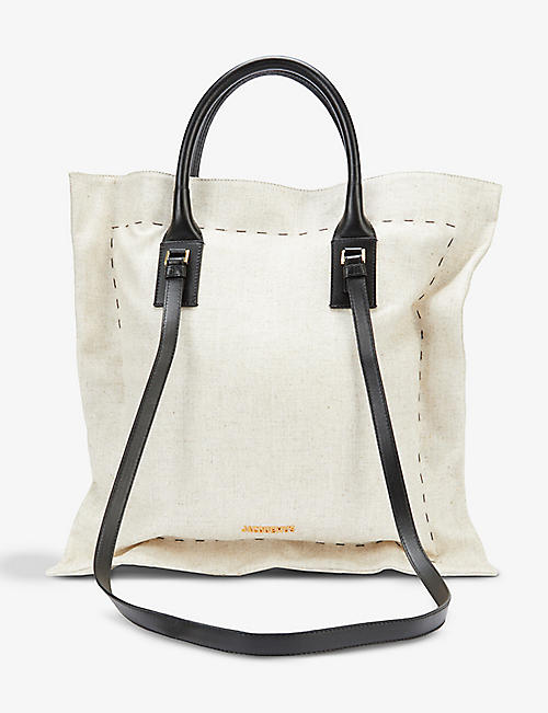 JACQUEMUS: Le Coussin cotton top handle bag