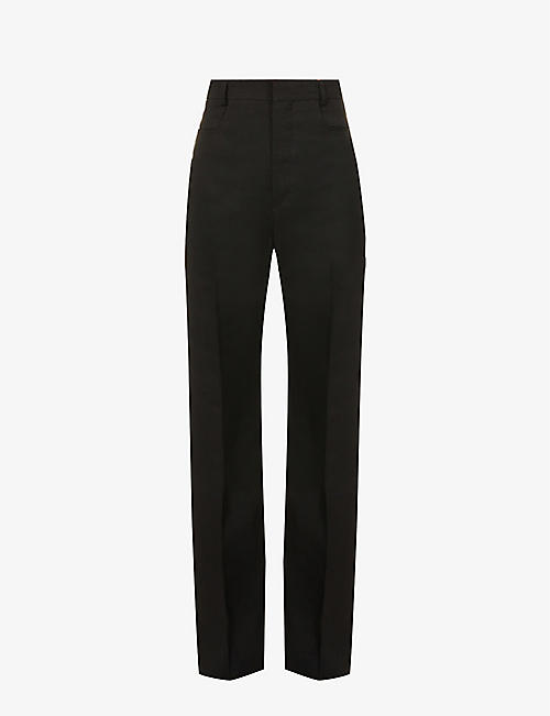 JACQUEMUS: Le Pantalon Sauge wide-leg high-rise hemp and wool-blend trousers