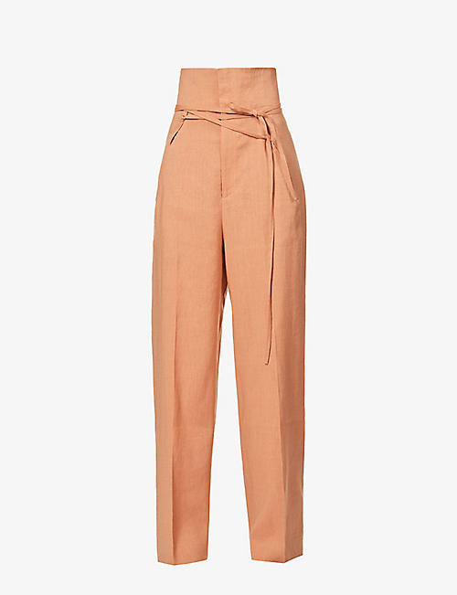 JACQUEMUS: Le pantalon Novio wide-leg high-rise woven trousers