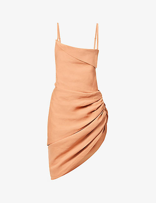 JACQUEMUS: La robe Saudade open-back woven mini dress