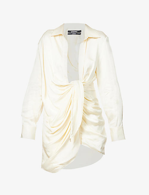 JACQUEMUS: La Robe Bahia satin mini dress