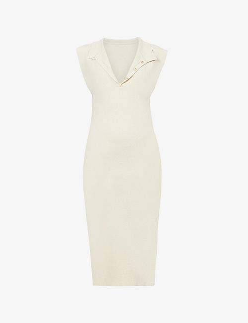 JACQUEMUS: La robe Santon linen knitted midi dress
