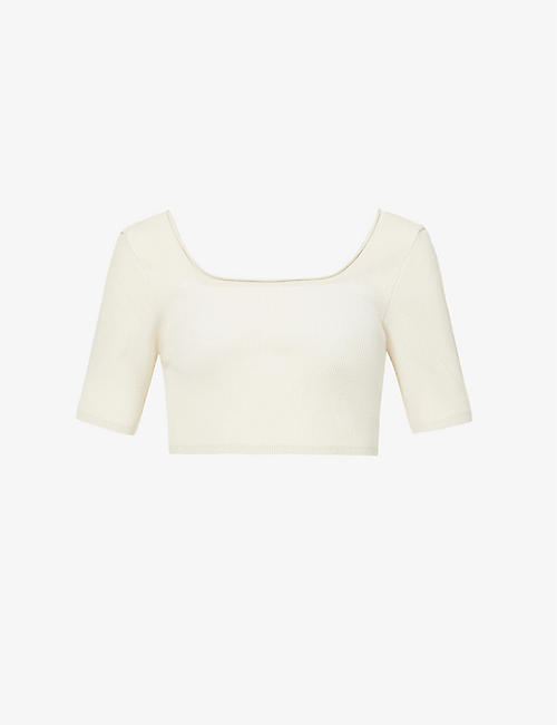 JACQUEMUS: Le haut Arancia cropped stretch-knit top